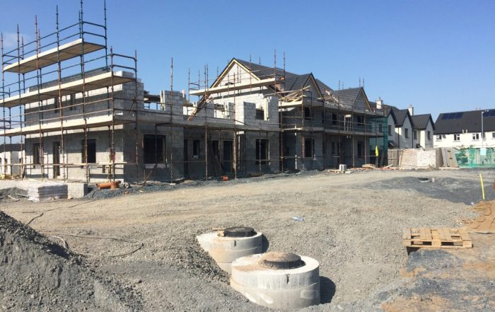 Houses under construction at The Woods